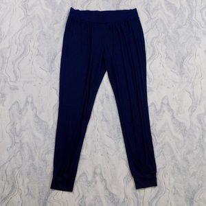 Victoria's Secret Blue Ribbed Loose Fit Joggers M
